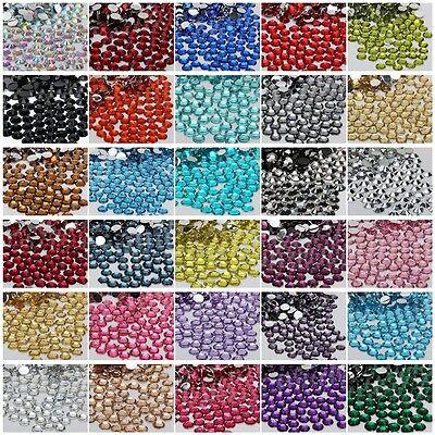 1000 sparkling Resin Rhinestone Flatback Crystal 2mm,3mm,4mm,5mm14 Facets SZ01