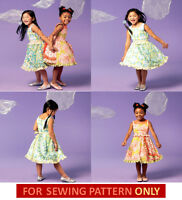 Sewing Pattern Make Boutique Style Dresses Sizes Toddler 2 To Child 8 Girl