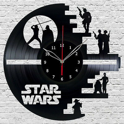 STAR WARS Vinyl Wall Clock Made Of Vinyl Record best Original gift