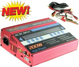 Powerhobby Ac/dc 100w X2 Double 10a 1-6s Lipo Duo Rc Chargeur Batterie Rouge