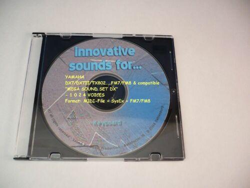 MEGA CD mit 32 Voice Bänken und ca 1024 Sounds !!! Yamaha DX7-Serie