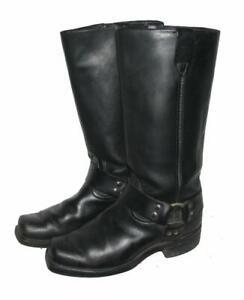 cool-hohe-Western-Stiefel-Biker-Boots-in-schwarz-in-Gr-6-5-ca-40