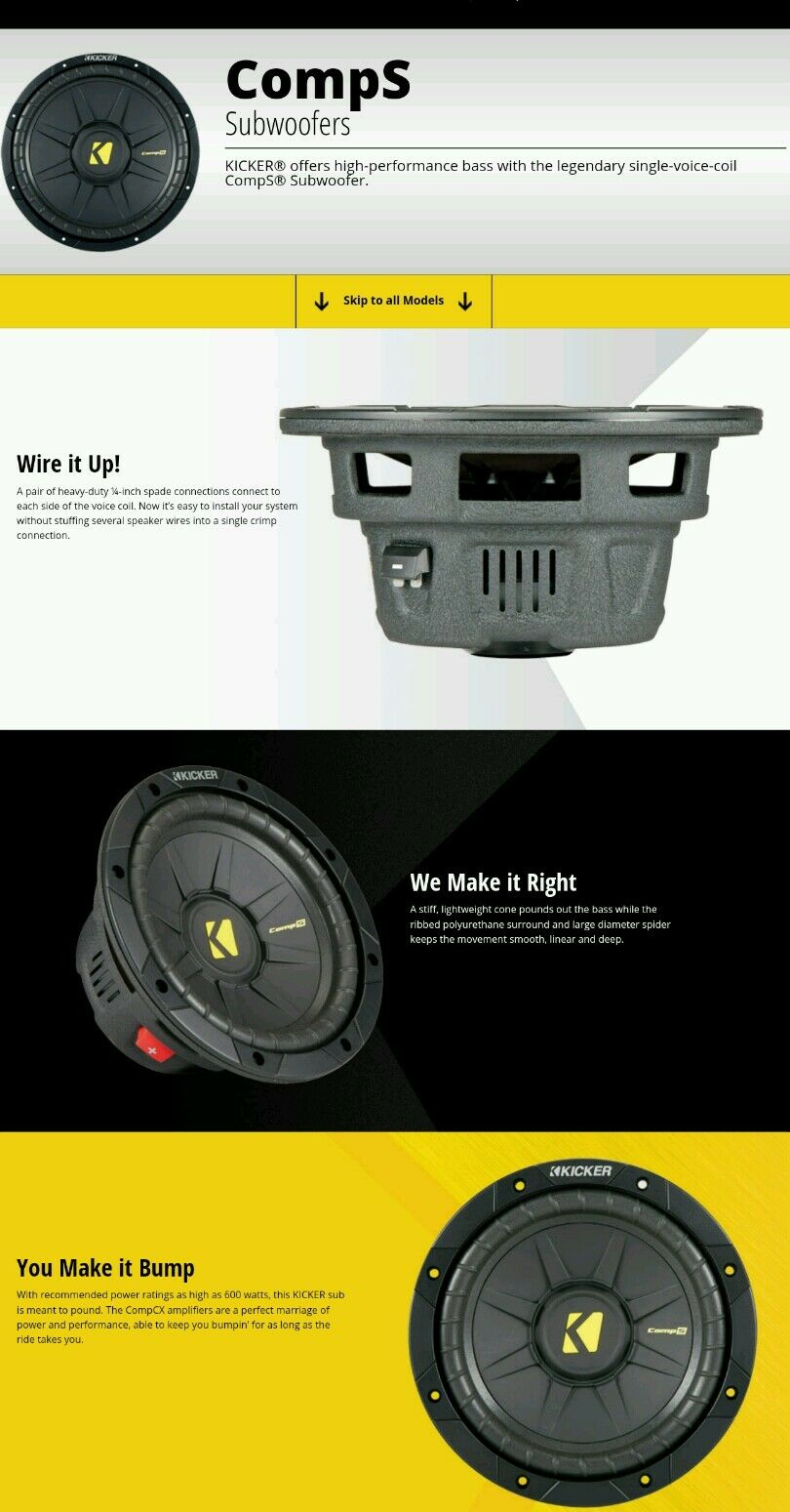 Kicker 40cws154 15 Comps Car Subwoofer Ebay High Performance Audio Wiring Norton Secured Powered By Verisign