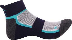 Amical More Mile Bambou Chaussettes De Course Bleu Anti-bacterial Rembourré Confort Sport Sock-afficher Le Titre D'origine