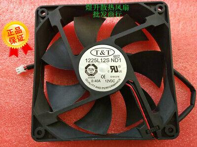 1pcs  T/&T 1225L12S ND1 DC12V 0.40A 12CM 12025 120MM Fan 2pin
