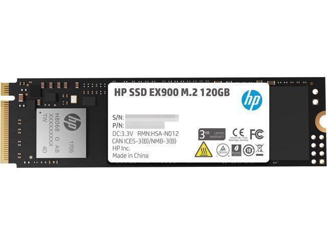 Hp Ssd Ex900 M 2 120gb Pcie 3 0 X4 Nvme 3d Tlc Nand Internal Solid