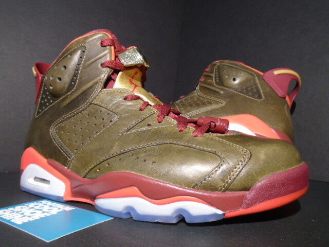 Nike Air Jordan VI 6 Retro CIGAR CHAMPIONSHIP PACK UMBER RED gold 384664-250 8.5