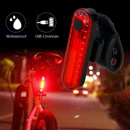 2PCS Bicycle Rear Light 2835 LED Bike Tail Lamp Cycling 4 Modes USB Rechargeable