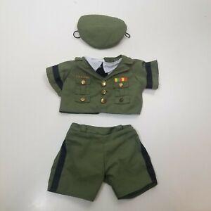 Build A Bear Ejercito Traje Verde Pantalones Camisa Sombrero Ebay