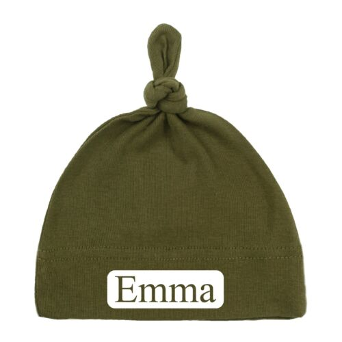 Cutout Personalized Baby Hats Newborn Baby Caps Customized Baby Gifts