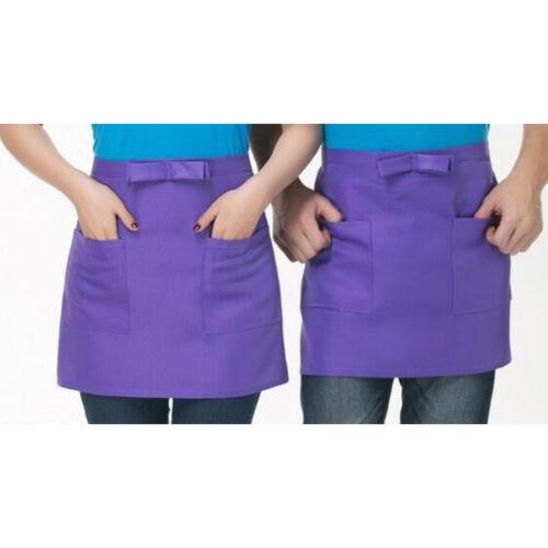 Kitchen Cotton Bow Short Half Waist Apron Bar Pub Cafe Server Waiter Waitress PB