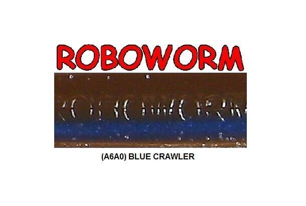 Roboworm SL-A6AO bluee Crawler 7 Inch - BULK LOT 125 Soft Plastic Baits