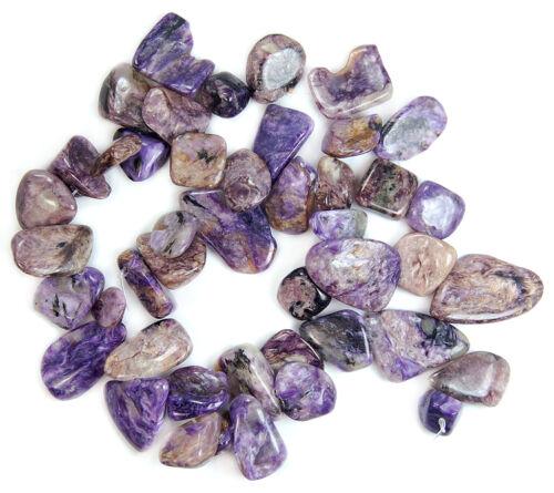 """8x10-12x14mm Natural Purple Charoite Freeform Gemstone Beads 15/"""""""