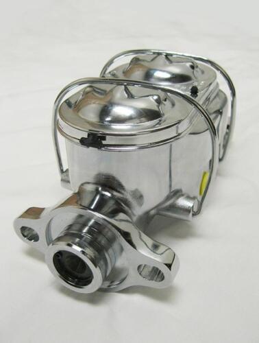 "Chrome Aluminum Bail Top Master Cylinder w// 1/"" Bore GM Street Rod Universal"