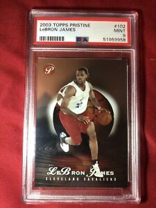2003-04-Topps-Pristine-Lebron-James-RC-102-PSA-9-MINT-d-999-RARE-ROOKIE