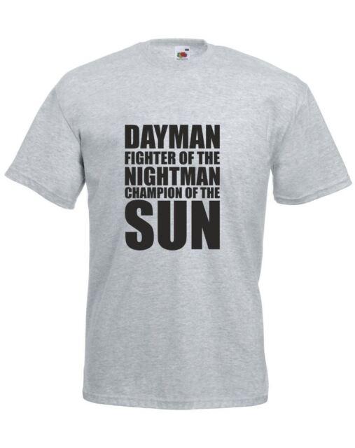 5abdd267 Dayman Fighter of The Nightman Mens Printed T-shirt Heather Grey ...