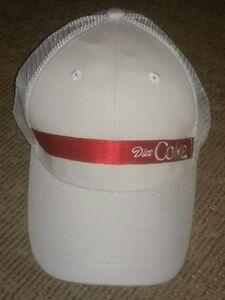 Diet Coke EMBROIDERED Trucker MESH CAP baseball hat COCA COLA promo ... e9eafc41da83