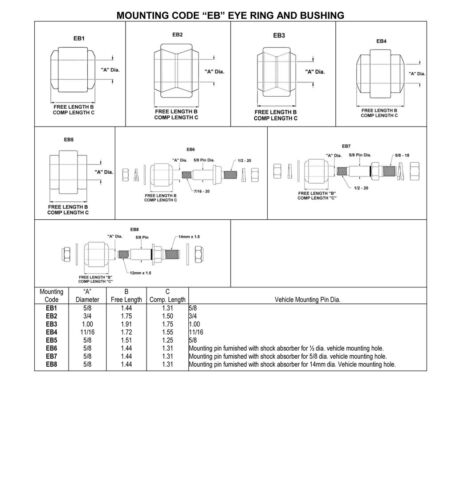 "13.28/"" 1965-1985 Oldsmobile Delta 88 Rear Gabriel Gas Shocks ext 22.14/"" Comp"
