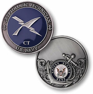 US Navy Cryptologic Technician Challenge Coin CT Rating Rate ...