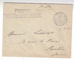 1915 Wwi Militaire Français, Postes Bureau Frontiere M, à Paris Dans Beaucoup De Styles