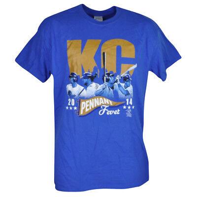 Trend Mark Mlb Kansas City Royals Kc Wimpel Fever T-shirt Herren Adult Kurzärmelig Blau Goods Of Every Description Are Available Sport Baseball & Softball