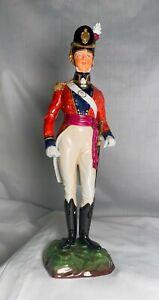 """Antique SITZENDORF """"Coldstream Guards Officer Field Order 1815"""" soldier figurine"""