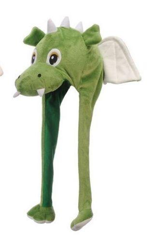 Tier Mütze Plüsch Mütze Drache pink oder grün