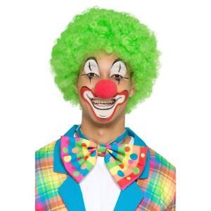 Clown-Bowtie-Neon-Spots-Stripes-Multi-Colour-Neon-Circus-Mens-Ladies-Clowns