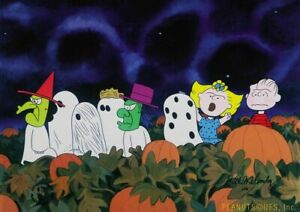 Peanuts-Trick or Treat Limited Edition Cel Set Signed by Melendez