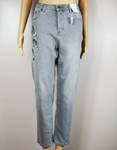 Ladies Trouser M/&S Marks And Spencer Jeans Denim Straight Size 12 RRP £30