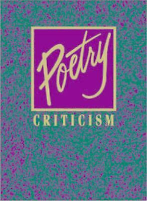 Poetry Criticism by Gale Group