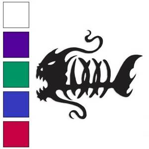 "Snakehead Skeleton Decal 14.8/"" x 6.8/"" Large Fish Bone Stickers Pair 2Pcs"
