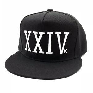 5f93ba56e6bf7 XXIVk 24K Black Baseball Cap Bruno Mars Hat 24 K Magic XXIV K ...