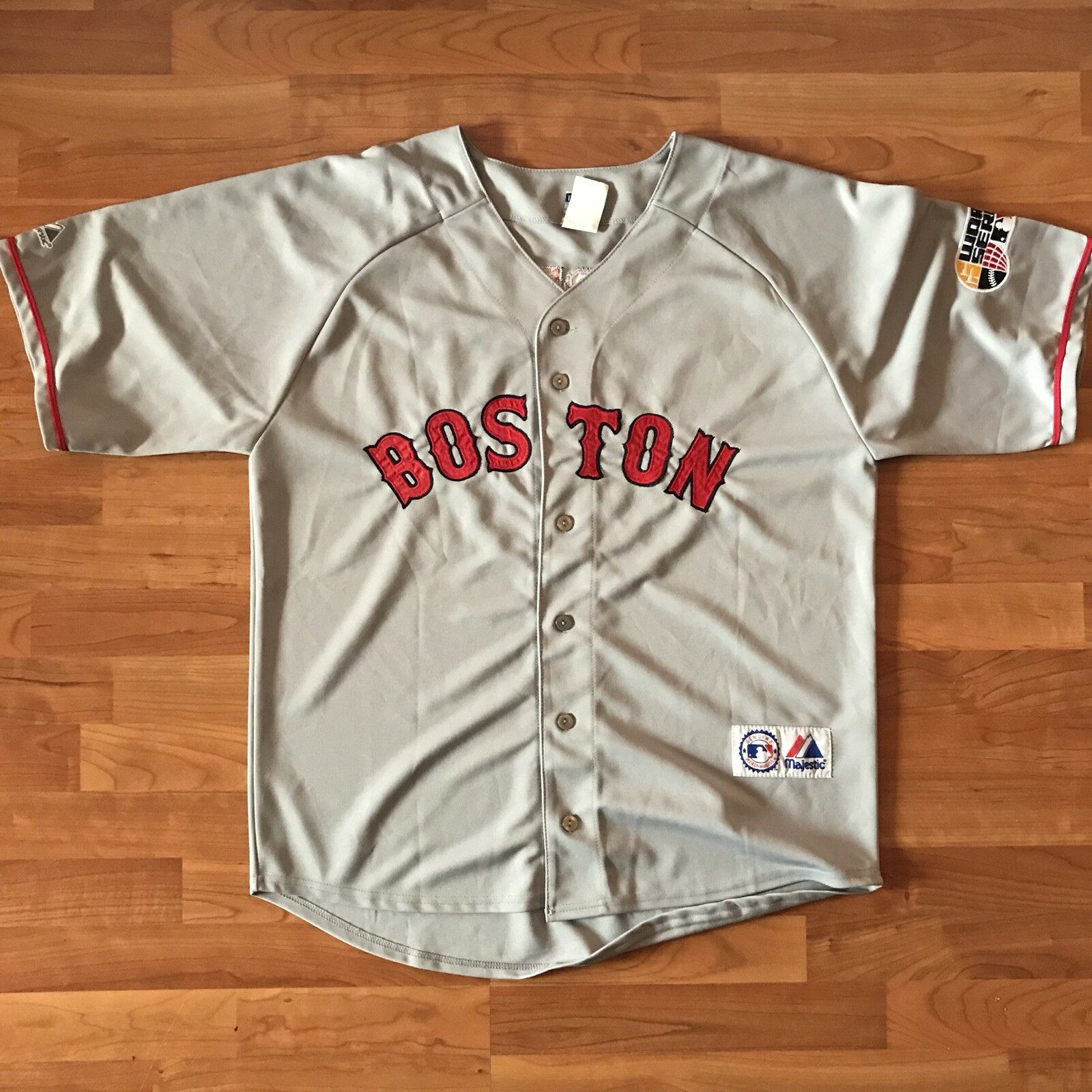 Boston ROT Sox Majestic 46 Trikot Jacoby Ellsbury  46 Majestic Größe XL World Series '07 d2f9a1