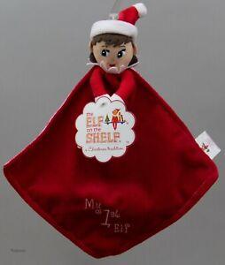 The Elf on the Shelf My 1st Elf Cuddler GIRL Blue Blanket Plush Baby Rattle