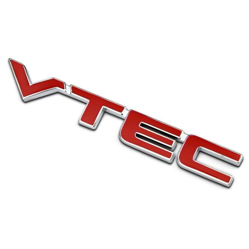 Car Metal Red VTEC Letter Logo Sticker Fender Decal Emblem