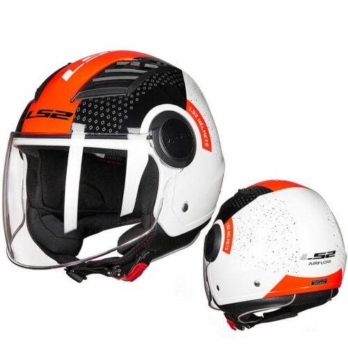 LS2 OF562 Airflow Jet Scooter Motorbike Motorcycle Open Face Half Helmet ECE