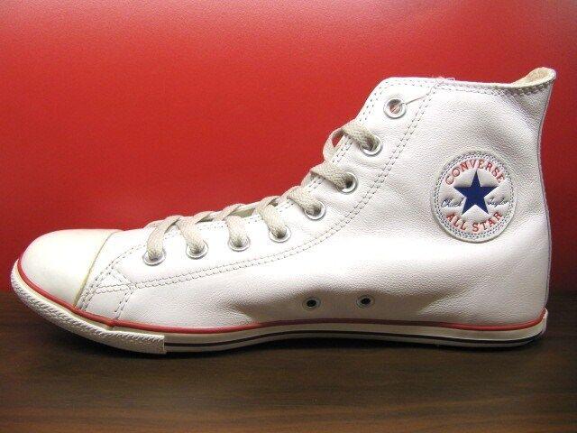 Nouveau CONVERSE ALL STAR SLIM CUT CUIR blanc HI CHUCK TAYLOR hommes chaussures 3-11 US