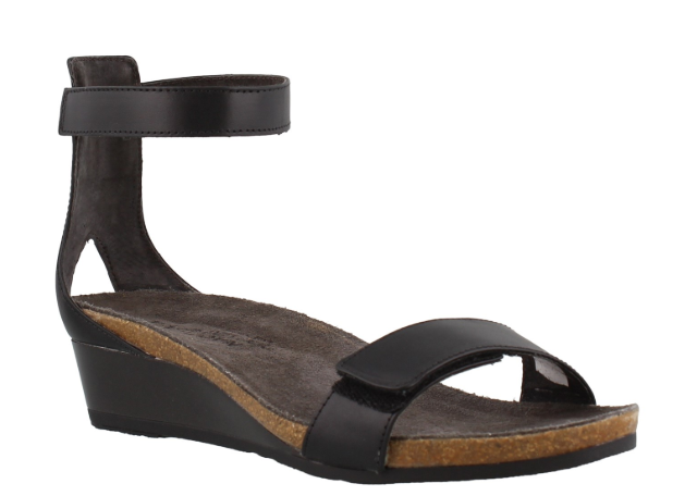 Naot Mermaid nero Raven Leather Wedge Sandal Donna Donna Donna  Dimensiones 5-11 36-42 NEW    c0c55e
