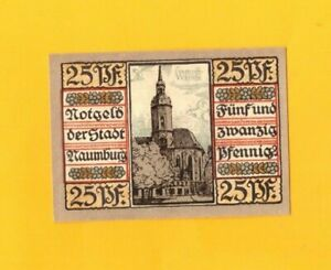 NAUMBURG-ALLEMAGNE-BILLET-MONNAIE-de-NECESSITE-illustre-EGLISE-en-1920