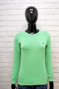 Maglione-RALPH-LAUREN-Donna-Taglia-M-Slim-Pullover-Cardigan-Sweater-Woman-Cotone