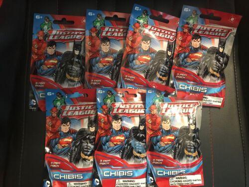 Lot of 7 Justice League Chibis Blind bags Mini-Figure