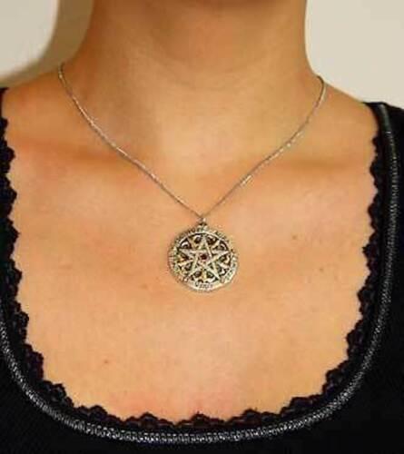 STEMMA Pentagram di armonia stabilità oro argento rosso cristallo wicca morbide