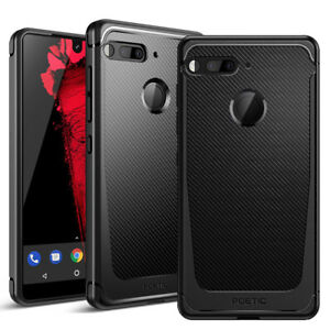 For-Essential-Phone-PH-1-Poetic-Slim-Fit-TPU-Bumper-Case-Karbon-Shield-Black