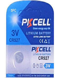 1-x-CR927-3V-Lithium-Knopfzelle-30-mAh-1-Blistercard-a-1-Batterie-PKCELL