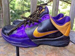 uk availability dcdbe 96738 Image is loading NIKE-Kobe-Bryant-Throw-Back-L-A-LAKERS-Purple-