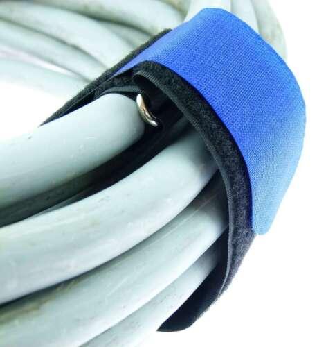10 nastri velcro Cavo Velcro 500 x 50mm Blu Cavo Nastro Di Velcro Fascette per cavi in velcro