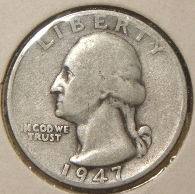 1947 D SEMI KEY DATE WASHINGTON QUARTER GEM BU COIN