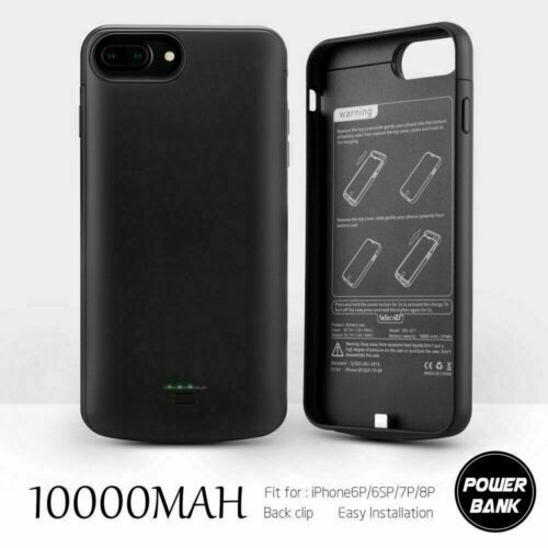 For iPhone Power Bank Portable Charger Cover Battery Case 10000mAh  5 6 7 8 plus