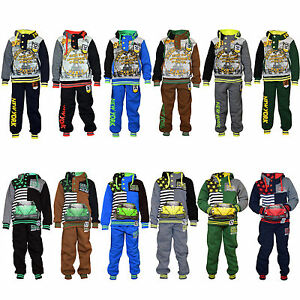 150bdd8bb Image is loading Eskaay-Kids-Sweatsuit-Boys -Printed-Polyester-Sweatshirt-SweatPant-